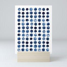Blueberries   Watercolour Pattern Mini Art Print