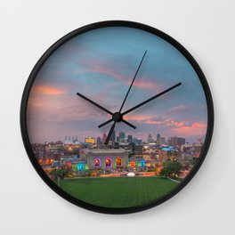 Sunset over Kanas City Wall Clock