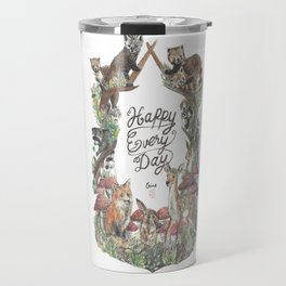 Happy Every Day! Travel Mug