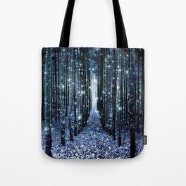 Magical Forest Teal Indigo Elegance Tote Bag