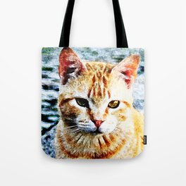 Young Yellow Cat Tote Bag