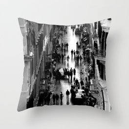Rome, view from Spanish steps Throw Pillow