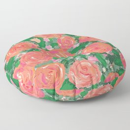 Blushing Roses Floor Pillow