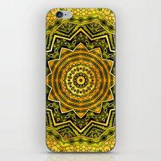 Mandala - Green and Gold iPhone & iPod Skin