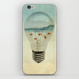blue sea thinking iPhone Skin