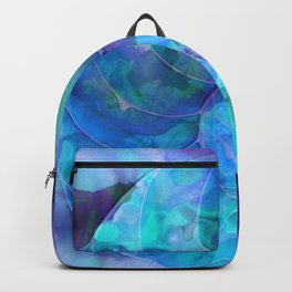 Blue Nautilus Shell  - Seashell Art By Sharon Cummings Backpack