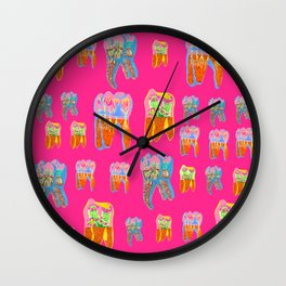 Tooth Terrariums Wall Clock
