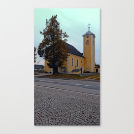 The village church of Neusserling I   architectural photography Canvas Print
