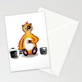 Mr bear wants to be a panda Stationery Cards