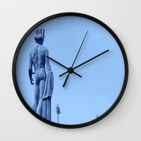 apollo Wall Clocks featuring Apollo Conversation by ExperienceTheFrenchRiviera
