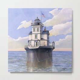 Fourteen Foot Bank Lighthouse, Delaware Metal Print