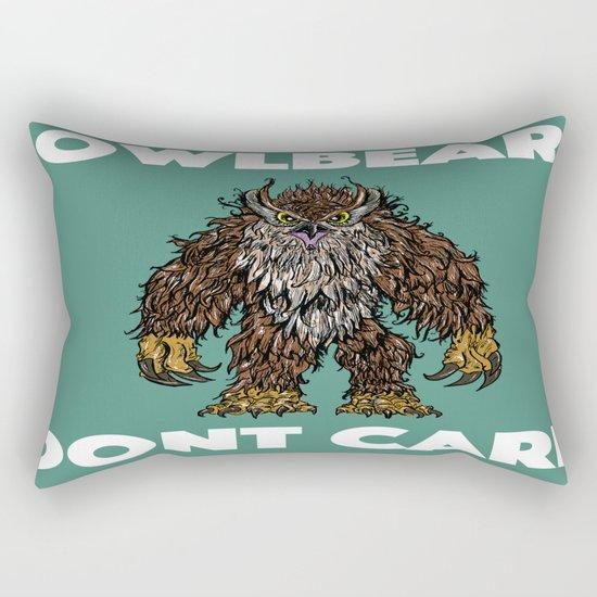 Owlbear Dont Care Rectangular Pillow