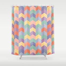 Colorful geometric blocks Shower Curtain