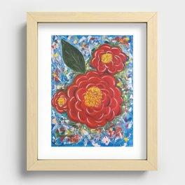 Flores Rojas Recessed Framed Print