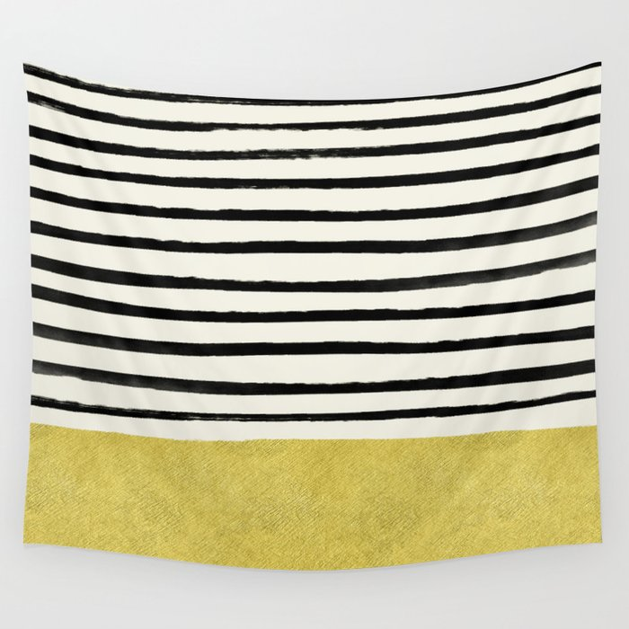 Gold x Stripes Wall Tapestry