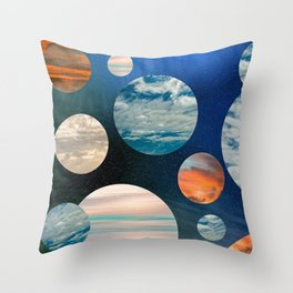 CLOUD COLLAGE Throw Pillow