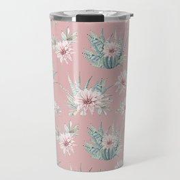 Echeveria Garden Roses Coral Rose Pink Travel Mug