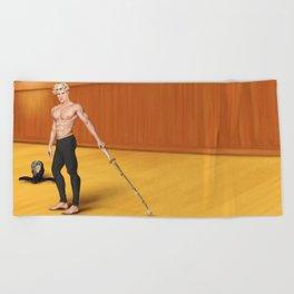 kendo practice partner Beach Towel