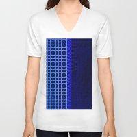 led zeppelin V-neck T-shirts featuring led blue by Fringed violet