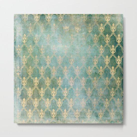Damask Vintage Pattern 02 Metal Print