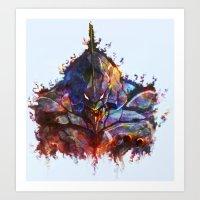 evangelion Art Prints featuring Evangelion by ururuty