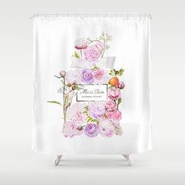 Parfum Perfume Fashion Floral Flowers Blooming Bouquet Shower Curtain