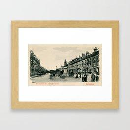 Victorian Folkestone Castle Hill Avenue and Harvey Statue Framed Art Print