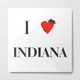 I heart Indiana Metal Print
