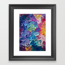 Aurora Swirls Framed Art Print