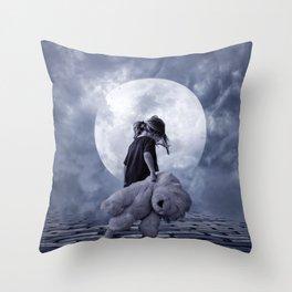 Moon 2 Throw Pillow