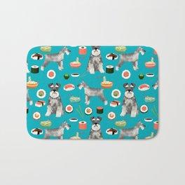 schnauzer sushi dog breed pet pattern dog mom Bath Mat
