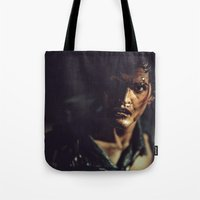 evil dead Tote Bags featuring Evil Dead 2 - Ash by Sharon Wright
