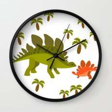 Dinos - Mom and baby Wall Clock