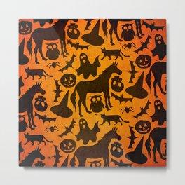 Halloween Spook Unicorn Metal Print