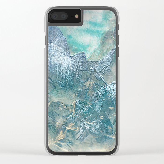 Tulle Mountain 2 Clear iPhone Case