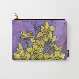 Jonquils - Watercolor and Ink artwork Carry-All Pouch