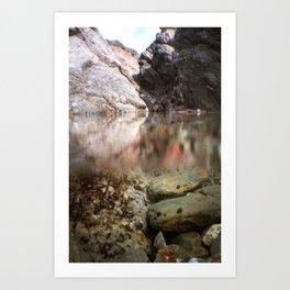 Cliffside Pool Art Print