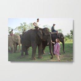 The Elephants and Me Metal Print