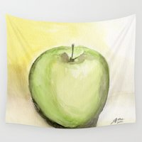 melissa smith Wall Tapestries featuring Granny Smith by Jeff Moser Watercolorist
