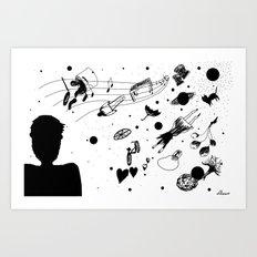 En el fin del mundo (At the end of the world) Art Print