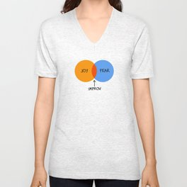 The Venn of Improv (Orange/Blue) Unisex V-Neck