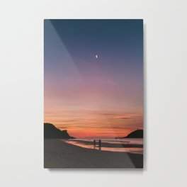 Tropical Moonlit Beach Sunset in the Philippines Metal Print