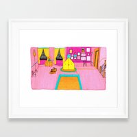 royal tenenbaums Framed Art Prints featuring The Royal Tenenbaums Tent. by Alxndra Cook
