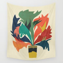 Potted staghorn fern plant Wall Tapestry