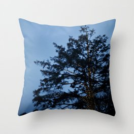 Evergreen at Twilight Throw Pillow
