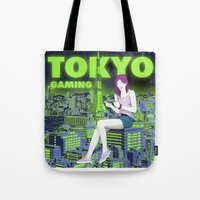 gaming Tote Bags featuring Tokyo Gaming by monocefalus