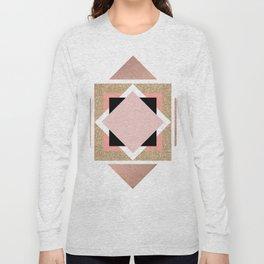 Carré rose Long Sleeve T-shirt
