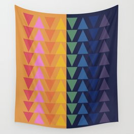 Day and Night Rainbow Triangles Wall Tapestry
