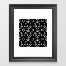 Sailors Pattern Framed Art Print