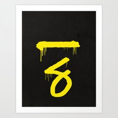 No. 7. Dead Man Art Print